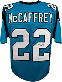 Christian McCaffrey Autographed Carolina Panthers Custom Blue Football Jersey - JSA COA