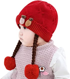 Infant Baby Winter Hat Beanies Crochet Warm Knitted Wig Hat
