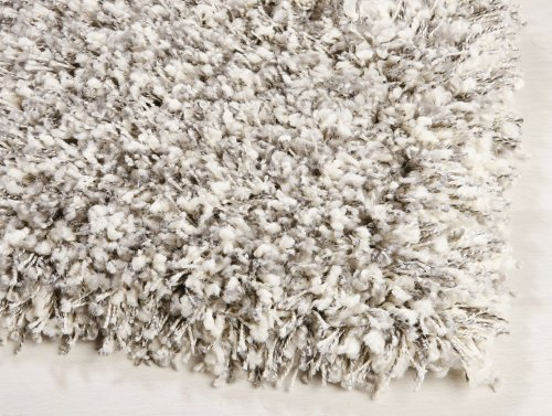 Ragolle Twilight Shaggy Teppich aus Belgien 6699 weiss/silber Muster