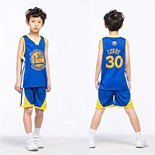 5d1bf912620cb XCR NBA Guerriers Curry 30ème Golden State Maillot Costume Jersey Enfants  Garçons Filles Hommes D