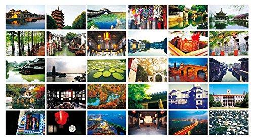 30 PCS Beautiful China Travel Scenery Artistic Retro Photo Postcards- S7