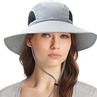 Ordenado Outdoor Sun Hat UV Protection Bucket Mesh Boonie Hat Adjustable Fishing Cap