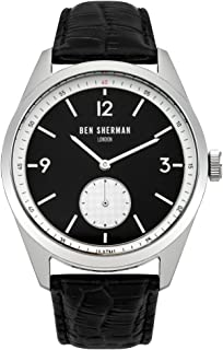 Ben Sherman WB052WB Mens Carnaby Driver Black Leather Strap Watch
