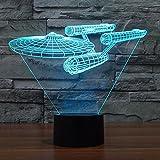 Smalody Neuheit Star Trek Nachtlicht 3D Lampe Leuchtende Gadget LED Beleuchtung Wohnkultur...