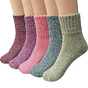 ToullGo Calcetines de Lana,Calcetines de Invierno,Calcetines Térmicos Mujer,Calcetines de lana para mujer, calcetines térmicos, cálidos, gruesos, cómodos, frescos, uso diario y regalos
