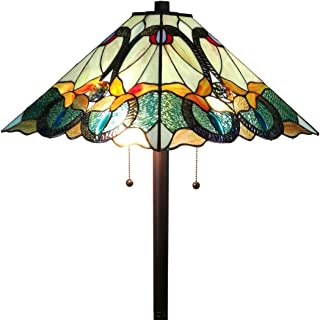 Amora Lighting AM255FL17 Tiffany Style Mission Standing Floor Lamp 63