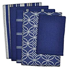 """Each set includes 4 dishtowels measuring 18 x 28"""" and 1 dishcloth measures 13 x 13"""" to TACKLE ALL YOUR DRYING AND CLEANING kitchen tasks. 100% Cotton Fabric, Machine Washable. EASY CARE just wash with cold water on gentle cycle & tumble dry low. Do n..."""