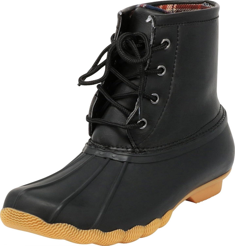 Cambridge Select Women's Non-Slip Lace-up Rain Duck Ankle Boot