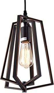 Chandeliers Farmhouse Modern Chandelier Oil Rubbed Bronze Chandelier with Gold Rectangle Chandelier Wrought Iron Chandelier 1 Light