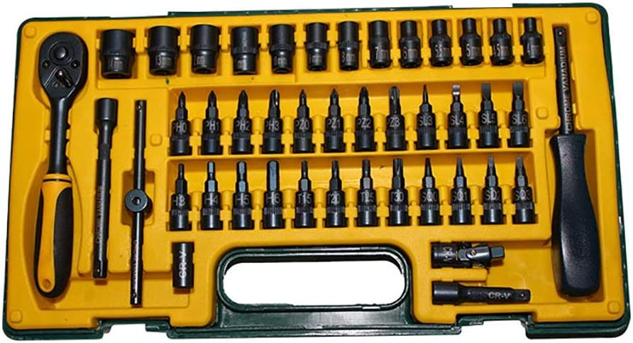 Hand Tool Kit 45 Piece Ratchet free shipping Wrench Mechanics Max 53% OFF Screwdr Set