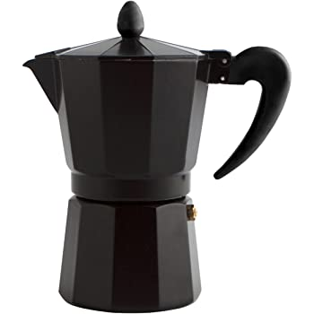Quid Cafetera Italiana, Acero Inoxidable, Negro, 3 Tazas: Amazon ...