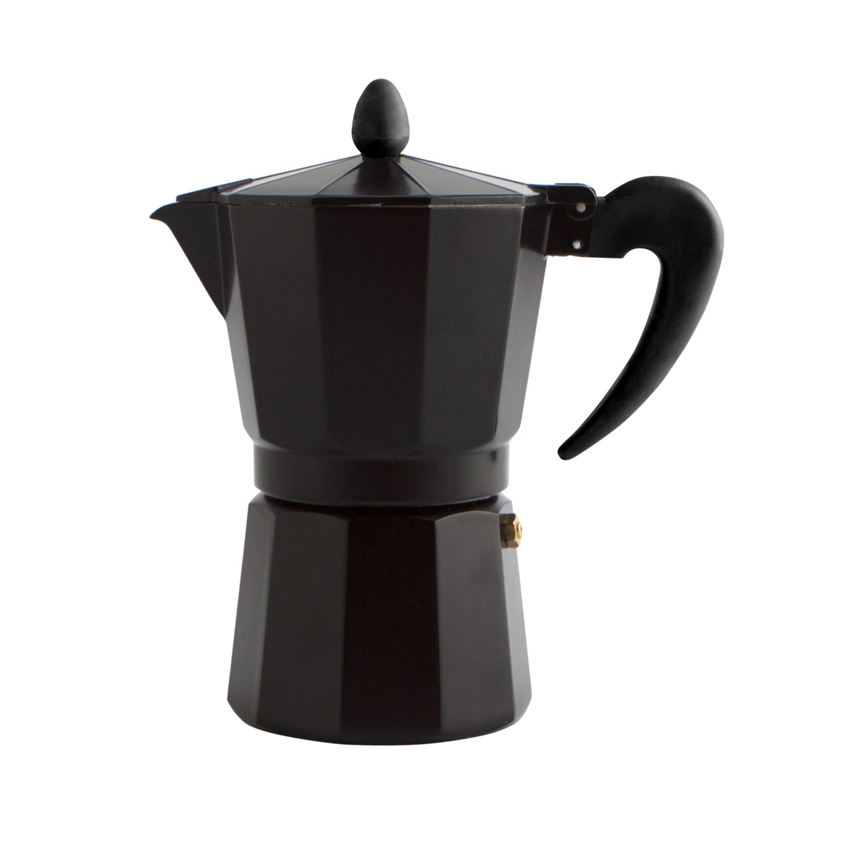 Quid Cafetera Italiana, Acero Inoxidable, Negro, 12 Tazas: Amazon.es: Hogar