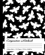 Bumble-bee Composition Notebook: Wide-Ruled, 7.5 x 9.25, 100 Pages, For kids, teens, and adults, Animals ,Bumble-bee