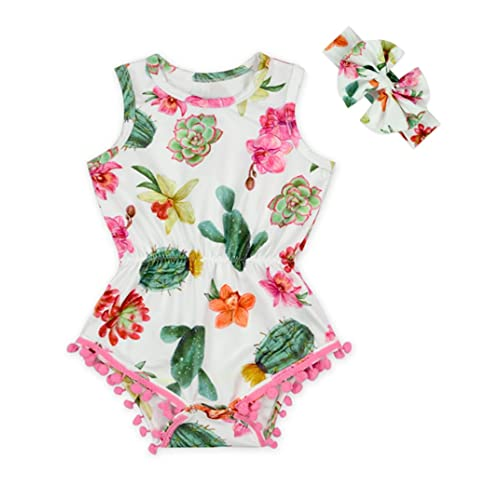 ddbb43e10 Anbaby Baby Girls Floral Ruffles Romper Long Sleeve & Sleeveless One-Pieces  Bodysuit Floral Outfits