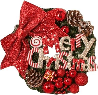 Orange Rot BESPORTBLE Weihnachtst/ür h/ängende Kranz Girlande Weihnachten Neujahr k/ünstliche Tulpe Farbverlauf Home 2020 Dekoration 50CM 20Inch