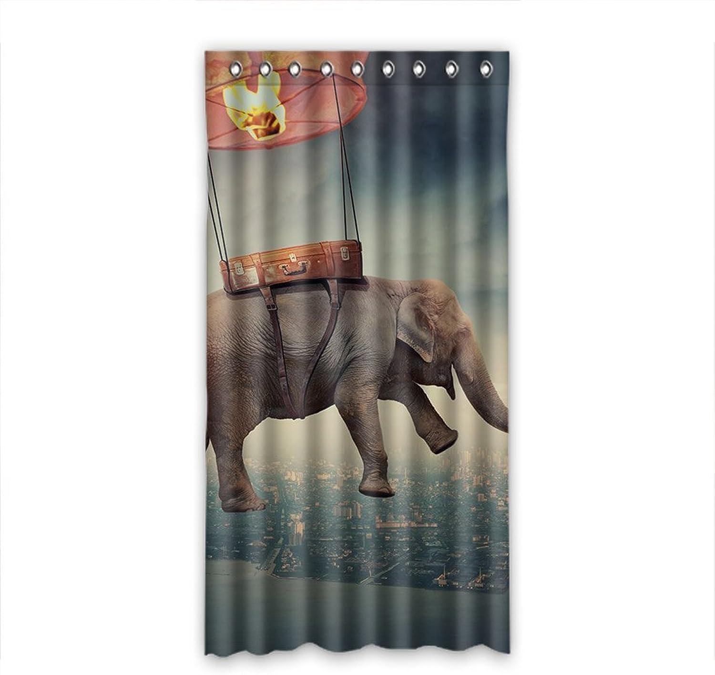 descuentos y mas Doubee - Cortina Opaca de poliéster con diseo de de de Elefante (50 x 96 Pulgadas), Poliuretano, E, 50 x96   salida