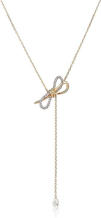 Collana swarovski a y collezione lifelong bow 5447082