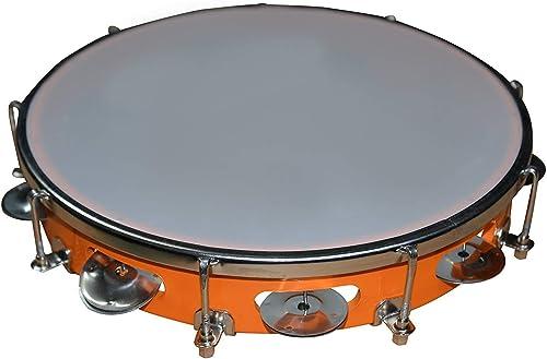 Mangalam Tambourine Hand Percussion Musical Instrument 8 inch RANDOM COLOUR