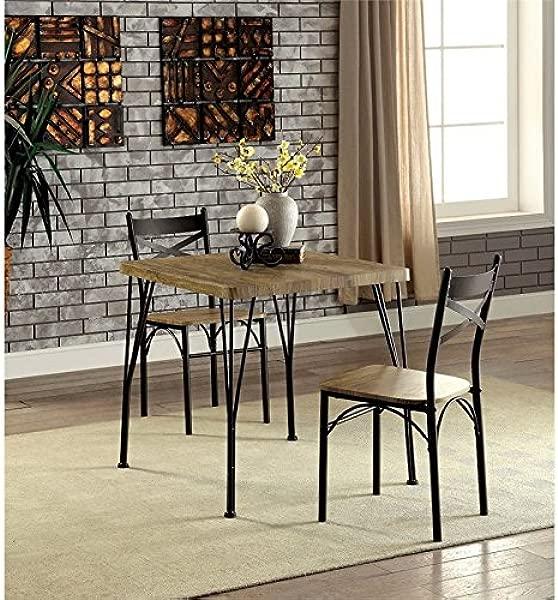 Furniture Of America Kelle 3 Piece Square Dining Set In Dark Bronze