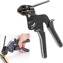 Stainless Steel Cable Tie Gun KangTeer Heavy Duty Carbon Steel Fasten Pliers for Max Width 12mm Stainless Steel Ties