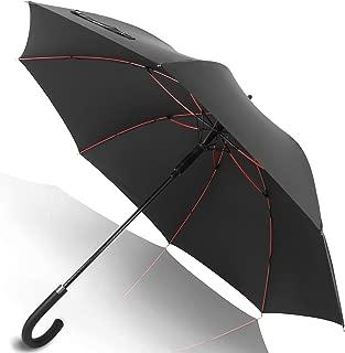 Anntrue 傘 長傘 メンズ レディース ワンタッチ 丈夫 撥水 耐風 Teflon加工 210T高強度グラスファイバー 軽量 大型 130cm 梅雨対策 晴雨兼用 収納ポーチ付き 永久保証付き