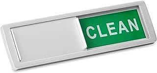 Lavavajillas limpia / signo sucio | Indicador de deslizamiento magnético o palo | Recordatorio del lavaplatos | Eliminar la confusión | Pukkr (Plata)