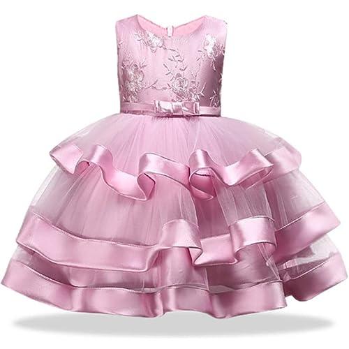 b5f22fef18f9 2-10T Flower Girls Dress Little Kids Ruffles Lace Party Wedding Dresses