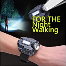 Portable Lightweight Super Bright Wrist LED Light Flashlight, Watch USB Charging Rechargeable for Climbing Camping