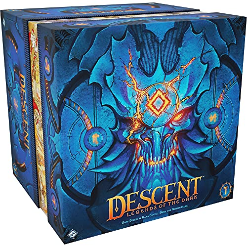 Descent Legends of The Dark Board Game   RPG Board Game   Cooperative Board Game   Strategy Board Game   Ages 14 and up   1 to 4 Players   Average Playtime 3-4 Hours   Made by Fantasy Flight Games