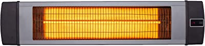 Hanover HAN1041IC-SLV, Silver 34.6-in. Wide Electric Carbon Infrared Heat Lamp with Remote Control