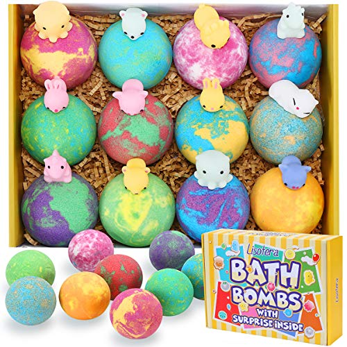 Bath Bombs for Kids with Toys Inside - Lisotera XXL Large Size 12 Gift Set for Girls Boys Women Kids...