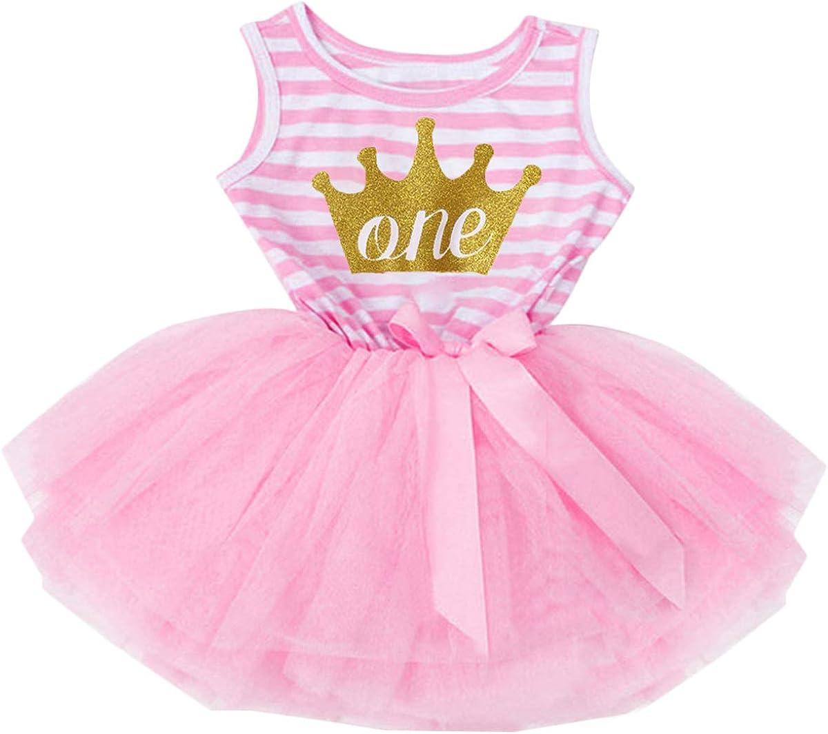 MYRISAM Princess Baby Girls 1st 5 popular 2nd Birthday Dress Rare Slee Tutu 3rd