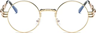 Round Metal Steampunk Vintage Circle Sunglasses DSR007