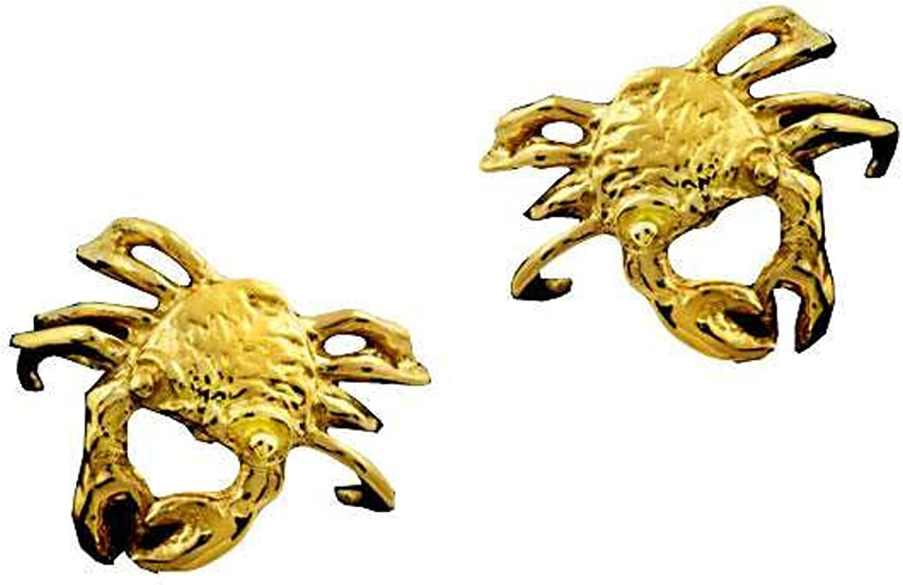 Gold Vermeil Pierceless Max 79% OFF Left And Fixed price for sale Ear Cuff Wrap Crab Right