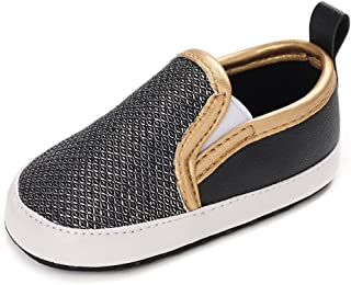 LONSOEN Baby Girls Boys Loafers Prewalker Moccasin Crib Shoes