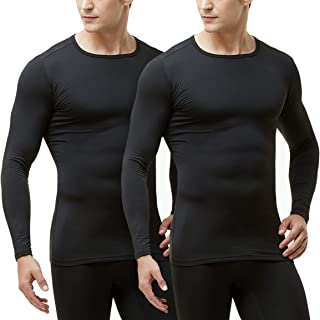 TSLA Men's Thermal Underwear Set, Microfiber Soft Fleece Lined Long Johns, Winter Warm Base Layer Top & Bottom