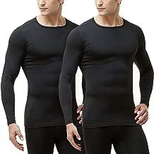 TSLA Men's (Pack of 2) Microfiber Fleece Lined Thermal Winter Top