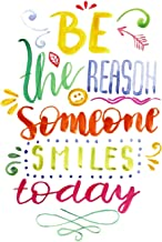iCandy Products Inc Be The Reason Someone Smiles Today Motivational Artwork Decorations Home Wall Posters, Small Signs - Metal - 7.5x10.5