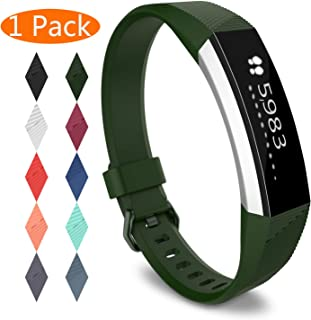 Compatible Replacement Bands for Fitbit Alta HR, Fitbit Alta, Silicone Fitbit Alta HR Band Alta Band, Buckle Wristband Strap Women Men Large Small