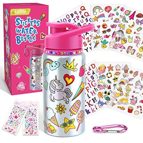 Laffity Geschenke für Mädchen - DIY Wasserflasche-Set Adventskalender Mädchen 2020 Adventskalender zum Befüllen, Bastelset Kinder Trinkflasche Teenager Mädchen Geschenke 6-12 Jahre, Geschenk Mädchen