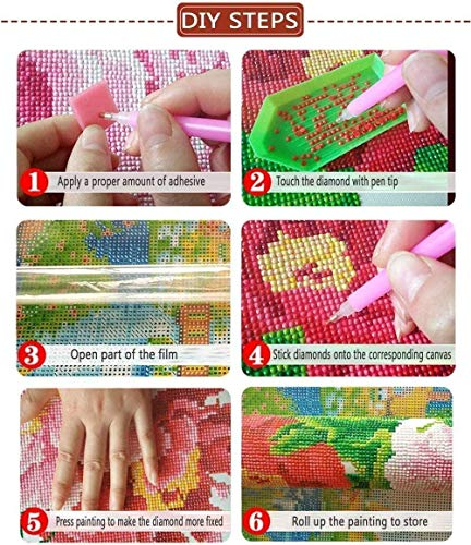 Yiyai 5D DIY Diamond Painting Dragon Ball Z Full Round Diamond Embroidery Stitch Cross Mosaic Puzzle needleworks-Round Drill 40x50cm