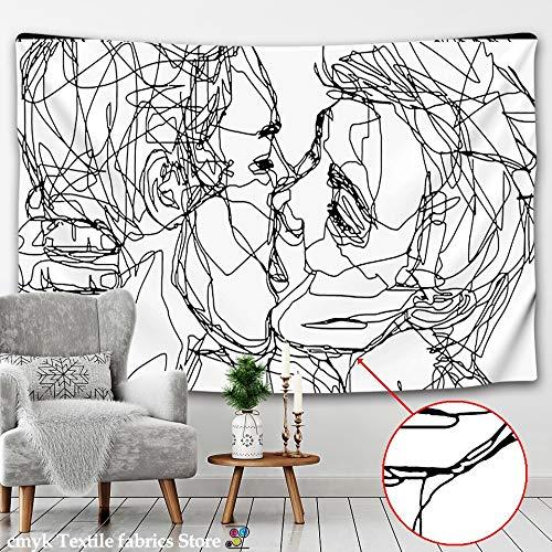 WERT Línea Creativa Pintura Tapiz Colgante de Pared Boho Tapiz de Pared psicodélico Tapiz de Pared Abstracto Tapiz A1 100x150cm