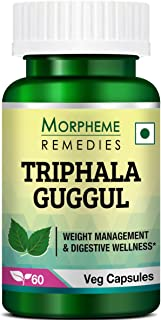 Morpheme Remedies Triphala Guggul 500 mg - 60 Veg Capsules