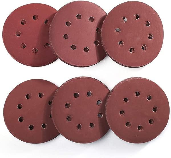 5 Inch 8 Holes Sanding Discs 60PCS 1000 1200 1500 2000 2500 3000 Grit Assorted Sandpaper By LotFancy Hook And Loop Random Orbital Sander Round Sand Paper