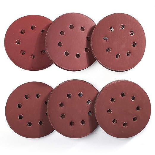 30Pcs 8 Hole Hook Loop Sanding Discs Sandpaper 5In for Random Orbital Sander US