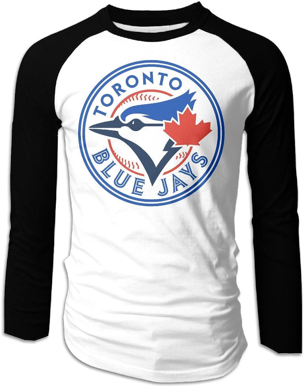 Men's 2016 Tgoldnto blueee Jays TOR Logo Baseball Raglan TShirt