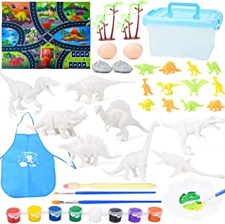 yeesport Dinosaur Painting Kit Washable DIY Dinosaur Painting Toy Dino Craft Dino Painting Toy Dinosaur Craft for Kids Din...