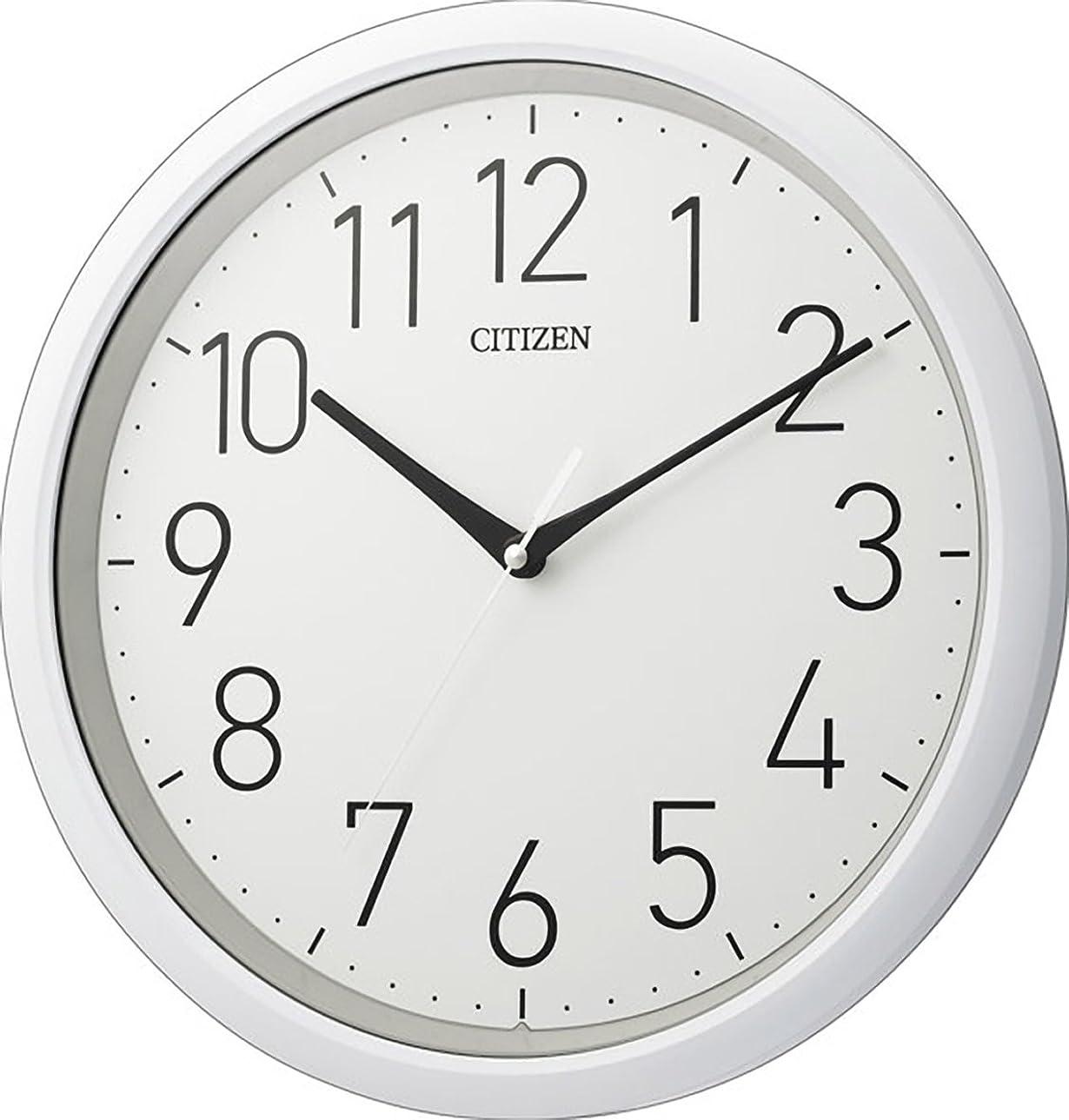 交流する縫う縁CITIZEN シチズン 掛け時計 防水 防塵 静音 白 CITIZEN 8MG799-003