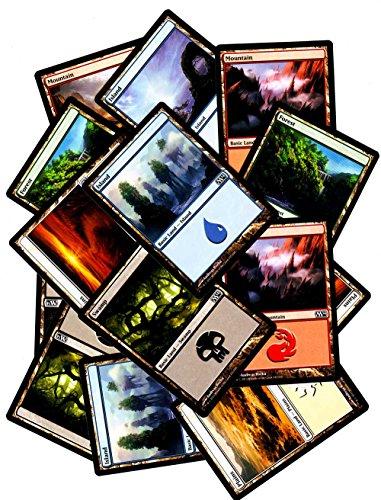 Magic The Gathering - 25 Standardländer MTG Mana Forest Plains Island Swamp Mountain (englisch)