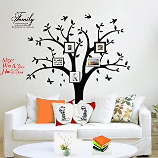 Family Tree Wall Decal Photo Tree Wall Decal Stickers Living Room Home Decal Bed Baby Room Wall Decals, Memory Tree and Birds,Wall Stickers,Butterfly